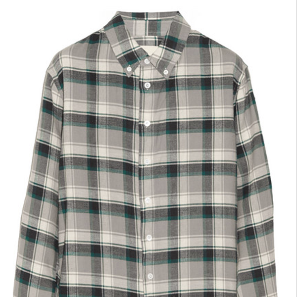 Band of Outsiders Plaid Cotton-Flannel Boyfriend Shirt