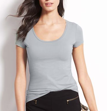 Ann Taylor Scoop Neck Tee