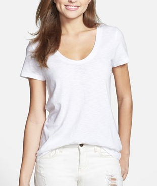 Halogen Relaxed U-Neck Tee