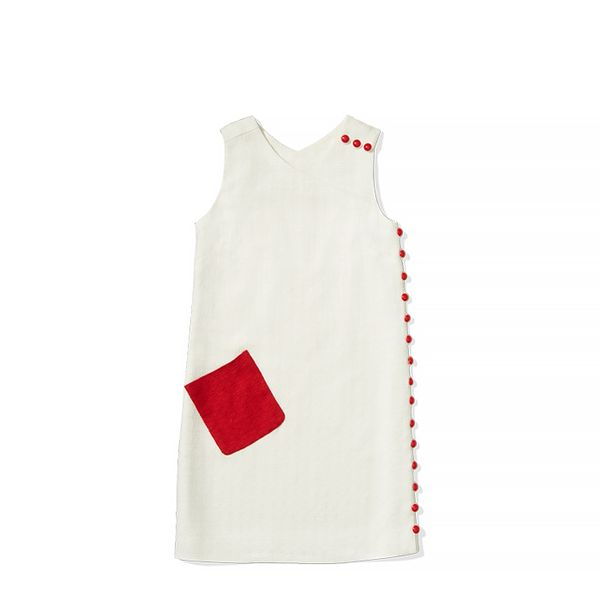 To Tommy,Love Zooey Sleeveless Button-detail Colorblocked Shift