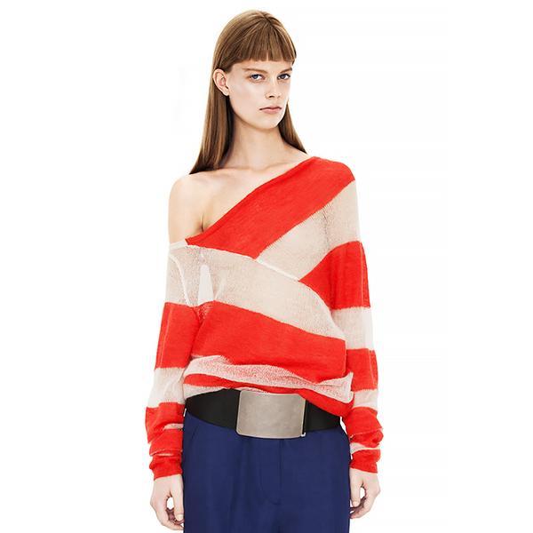 Acne Oil Kid Mohair Poppy Red Sweater