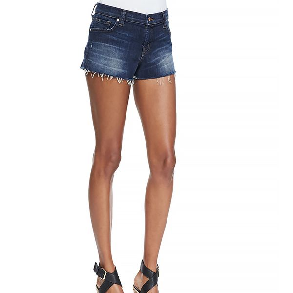 J Brand Jeans Tribute Low-Rise Faded Cutoff Shorts