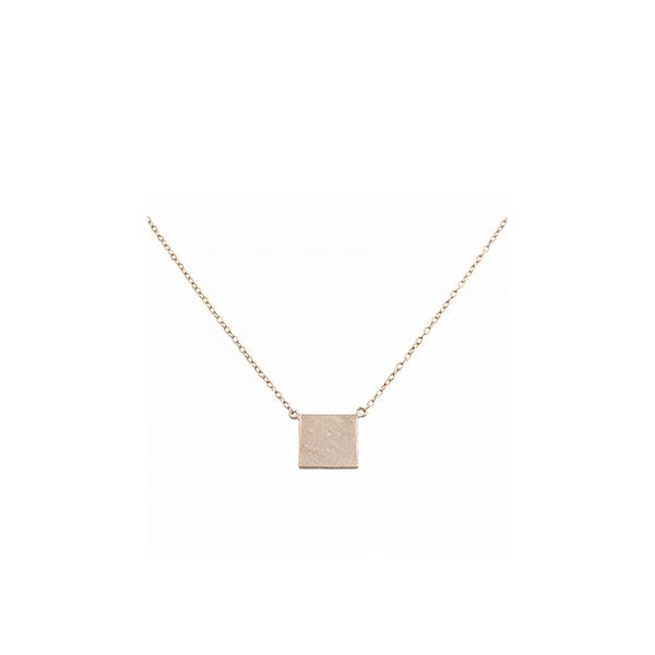 Ananda Rose Gold Square Necklace