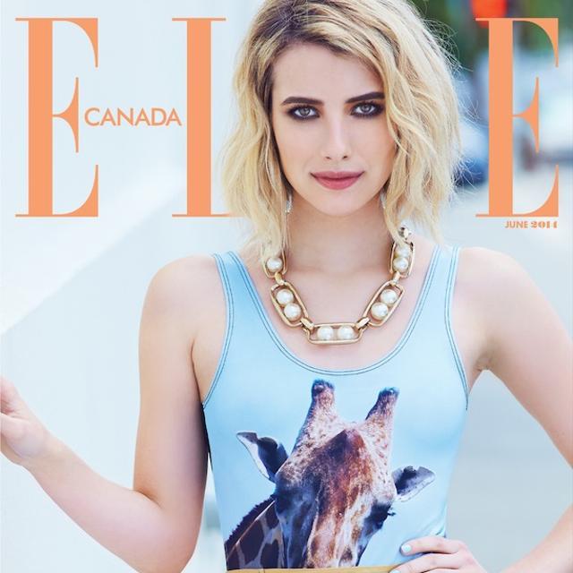 Emma Roberts' 3 ELLE Canada June Subscriber Covers
