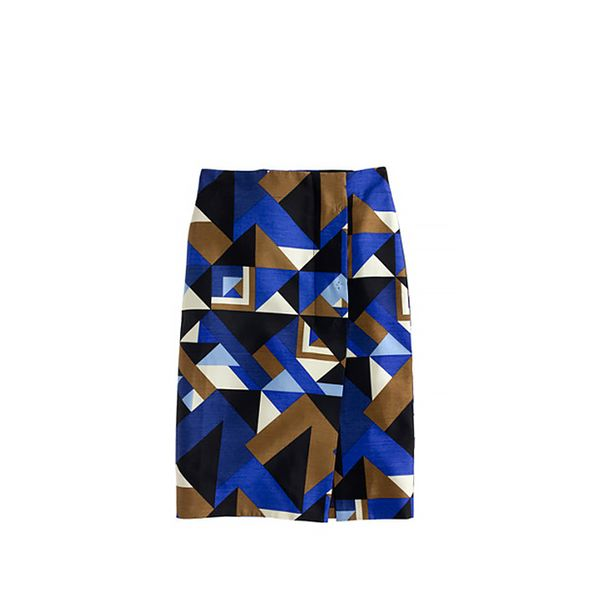 J. Crew Collection Pencil Wrap Skirt in Cubist Print