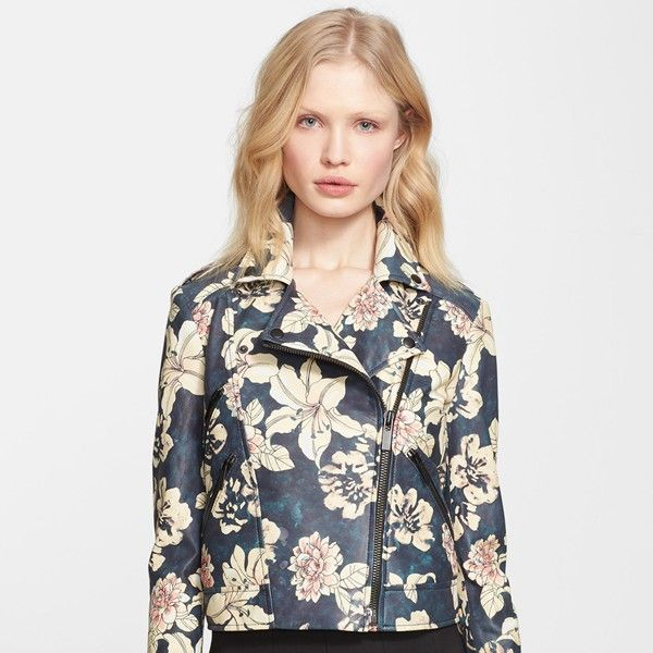 Elizabeth and James Lily Erwan Print Leather Jacket