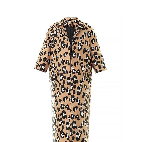 Adam Lippes Leopard Jacquard Opera Coat