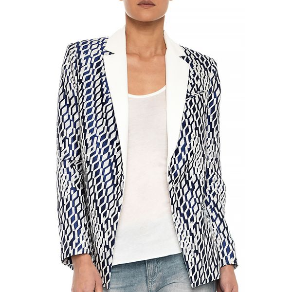 Joe's Jeans Elsa Oversized Jacket - Geometric Jacquard