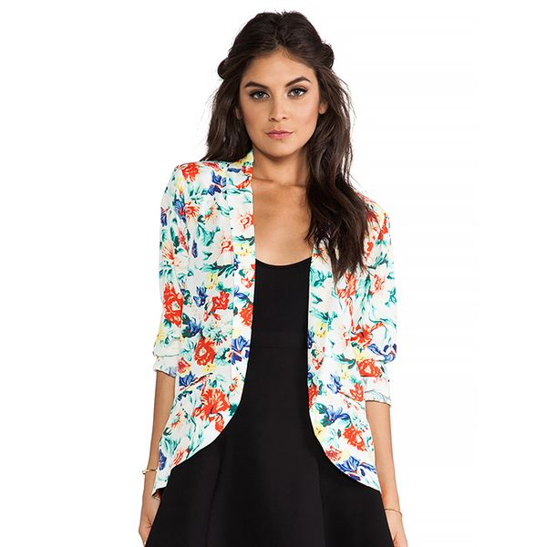 MinkPink Flower Crush Blazer