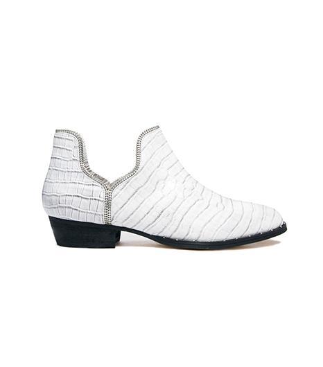 Senso Brigette Cement Croc Print Boots
