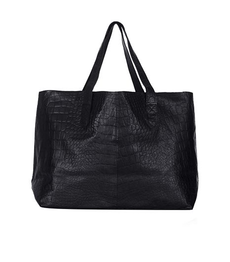 Topshop Croc Leather Shopper Bag
