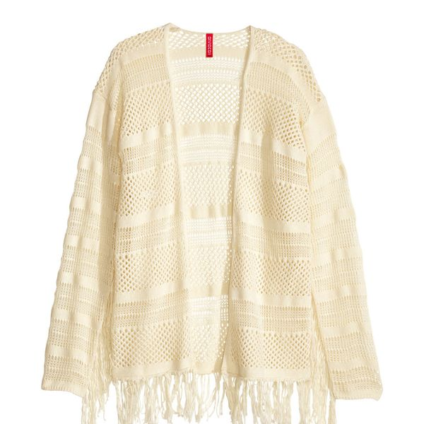 H&M Patterned-Knit Cardigan