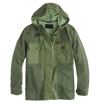 J.Crew Hooded Fatique Jacket