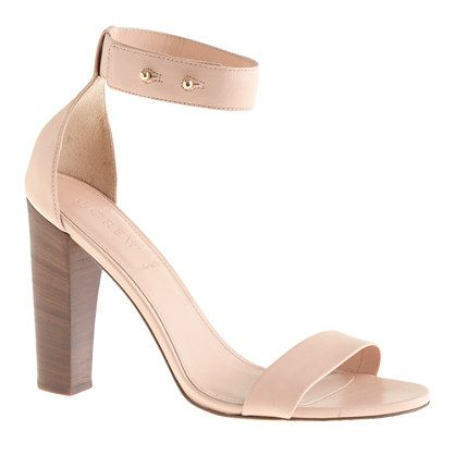 J.Crew Lanie Stacked-Heel Sandals