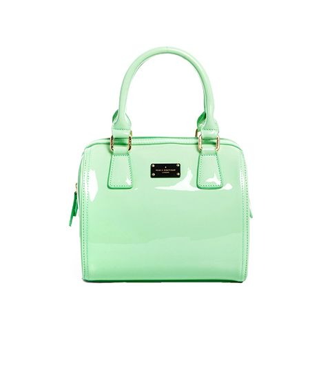 Paul's Boutique Millie Bag in Patent Mint