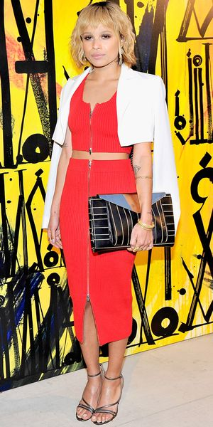 Zoe Kravitz Is Red Hot In Alexander Wang