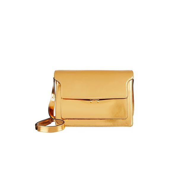 Marni Metallic-Leather Shoulder Bag