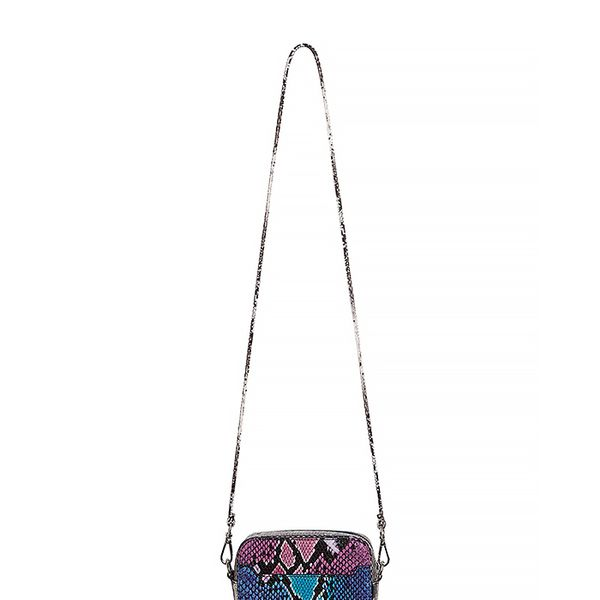 Sandro Anaconda Snakeskin Crossbody Bag