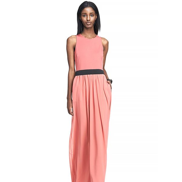 Armani Exchange Ponte Twofer Maxi Dress