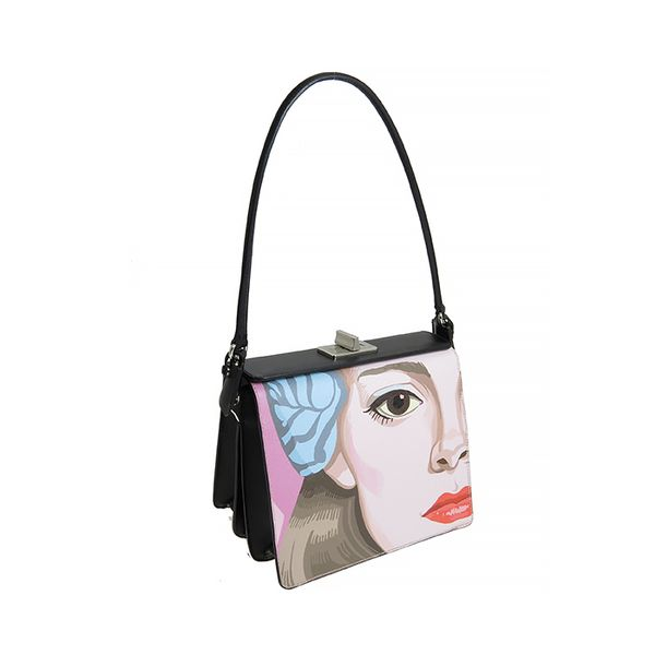 Prada Visage Printed Saffiano Leather Bag
