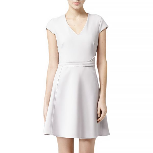 Reiss Raw Edge Embellished Dress