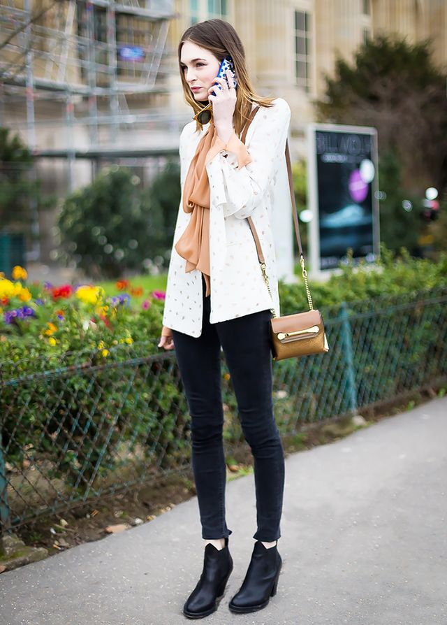 Lightweight Blouse + Black Jeans