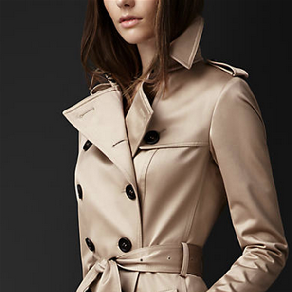 Burberry Prorsum Long Cotton Sateen Trench Coat