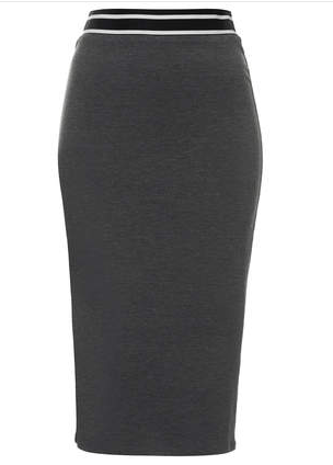 Topshop Sporty Waistband Tube Skirt