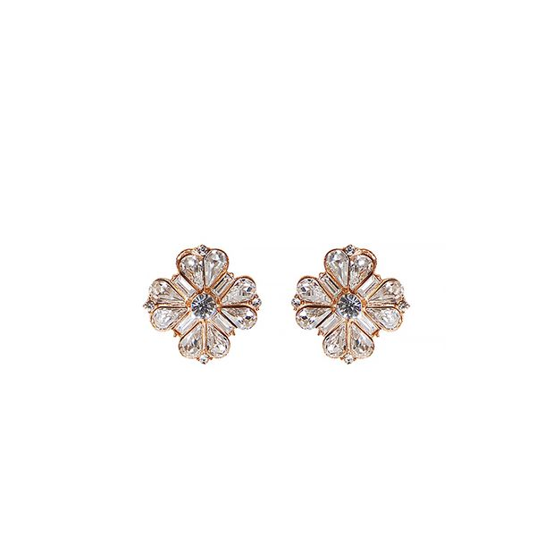 Humble Chic Crystal Flower Earrings