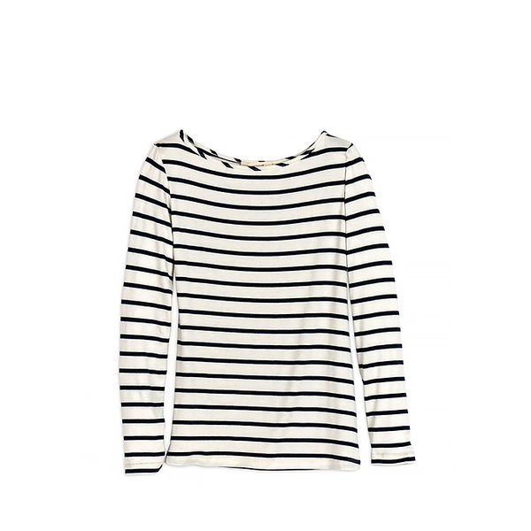 Amour Vert Francoise Striped Long Sleeve Tee