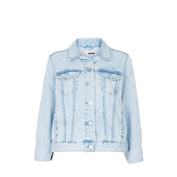 Tophsop Moto Fitted Denim Jacket