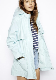 ASOS High Shine Rain Trench