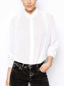 ASOS Pleat Front and Batwing Blouse