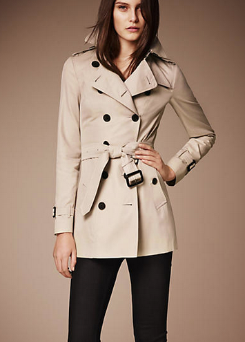 Burberry Prorsum The Sandringham Short Heritage Trench Coat