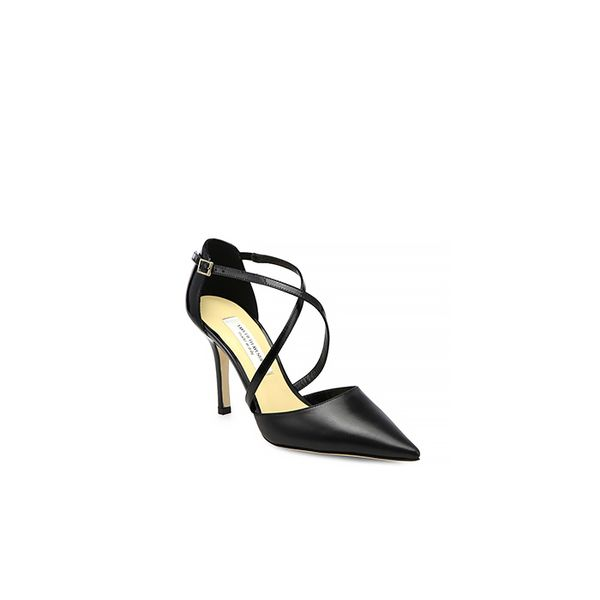 Saks Fifth Avenue Liv Mixed-Media Strappy Pumps