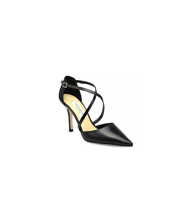 Saks Fifth Avenue Liv Mixed-Media Strappy Pumps ($156)