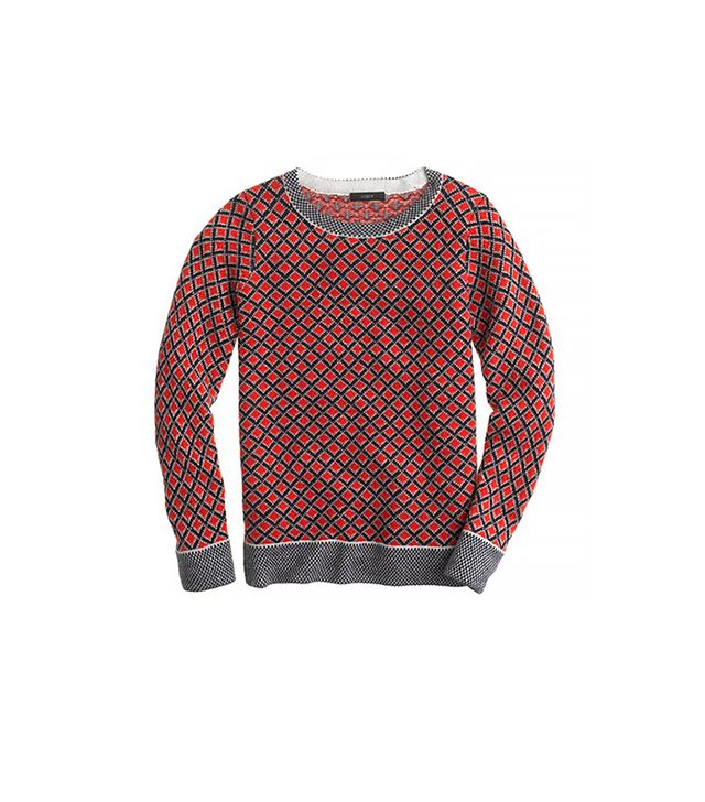 J. Crew Collection Cashmere Diamond Sweater ($140)