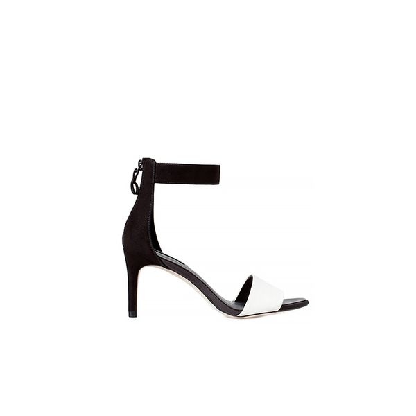 Zara Two-Tone High Heel Sandal with Zip Back