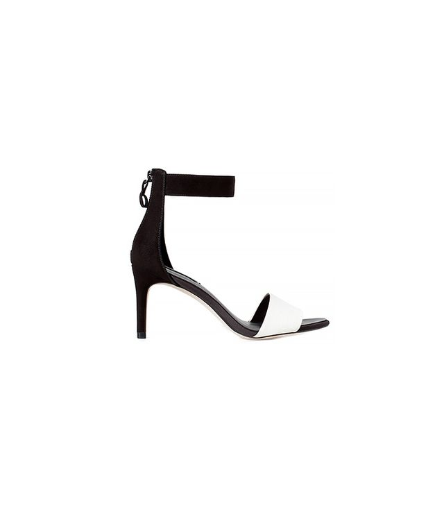 Zara Two-Tone High Heel Sandal with Zip Back ($50)