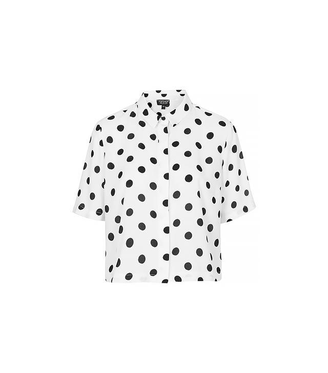Topshop Spot Print Shirt ($70)