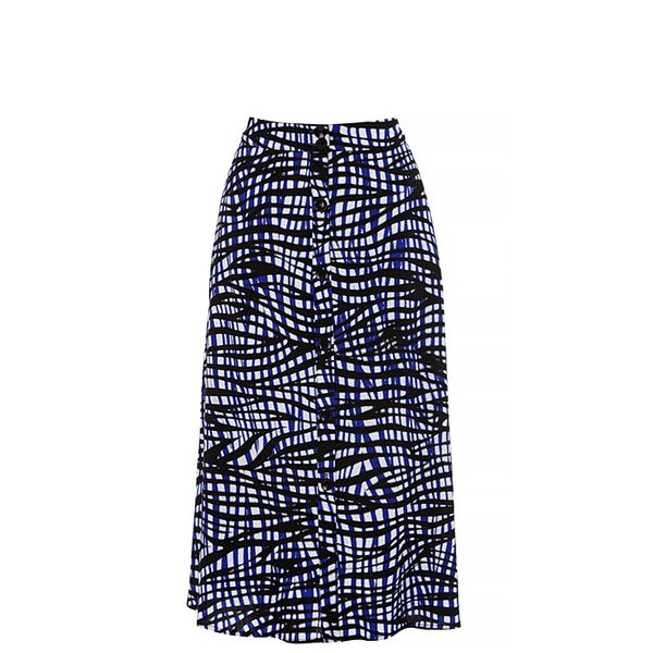 Warehouse Bamako Button Through Midi Skirt