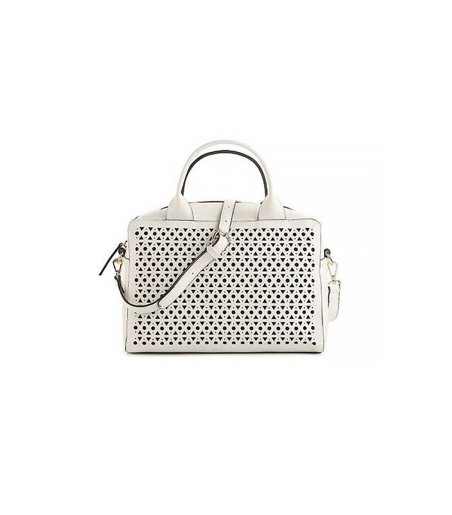 Emperia Kayli Perforated Satchel ($50)  Want more work outfit inspiration? Check out 11 Foolproof Work Outfits To Try This Month.