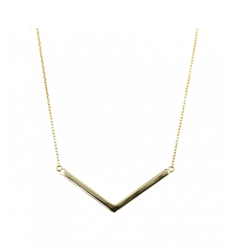 Ananda Gold Chevron Necklace