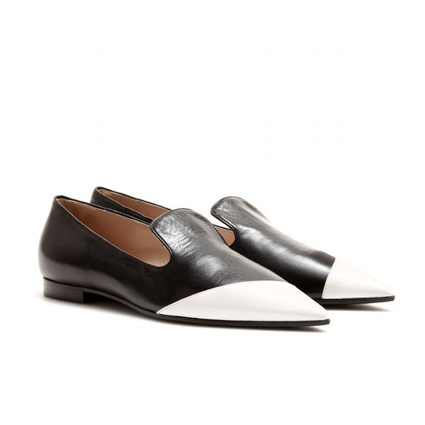 Miu Miu Leather Slipper-Style Loafers