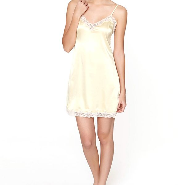 Oysho Lace Satin Nightgown