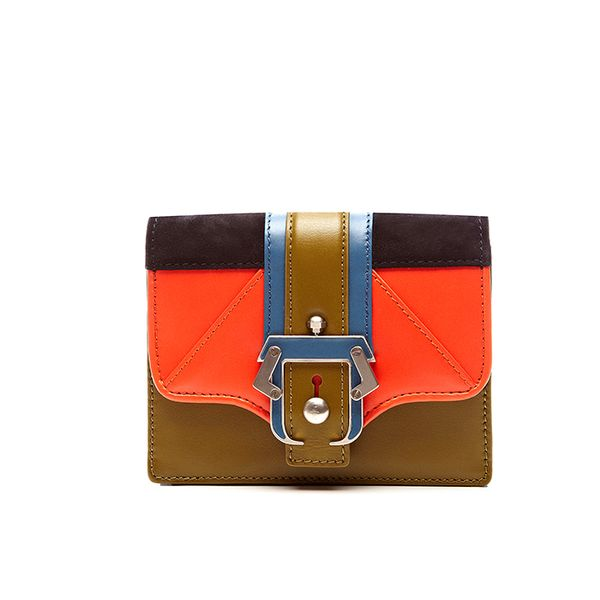 Paula Cademartori Anna Leather And Suede Clutch