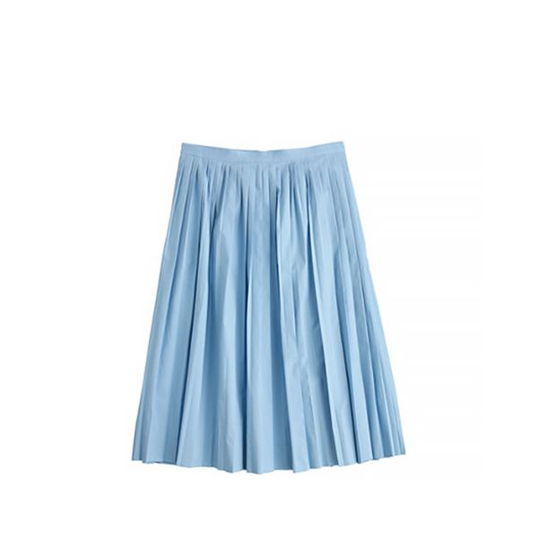 J.Crew J.Crew Pleated Poplin Skirt