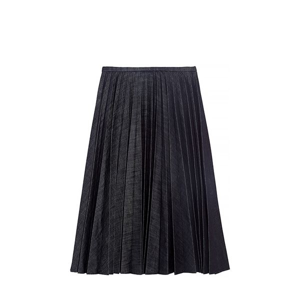 J.W. Anderson J.W. Anderson Pleated Denim Skirt