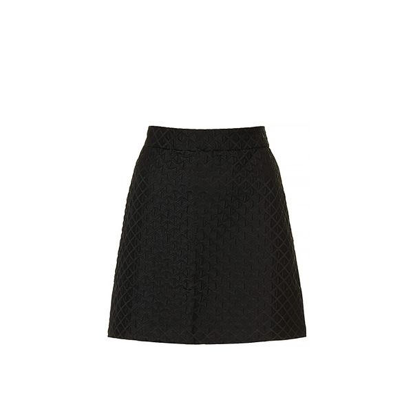 Topshop Topshop Diamond Jacquard A-Line Skirt