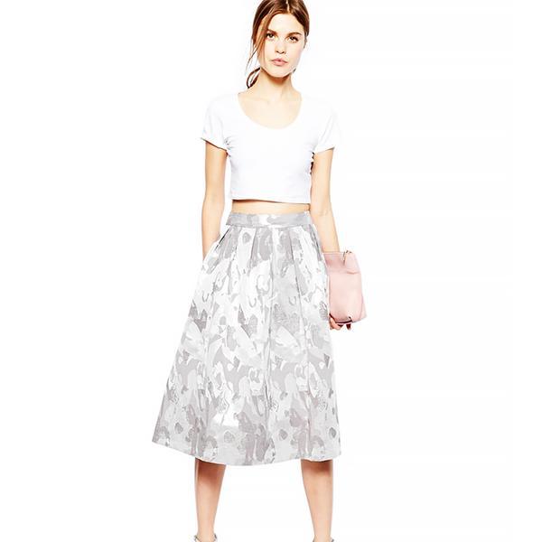 ASOS ASOS Midi Skirt in Camo Jacquard